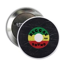 "Reggae Record - Scratch Texture 2.25"" Button"