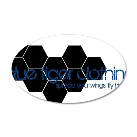 hex_black 35x21 Oval Wall Decal