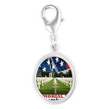 2-MemorialDay DA 2 shirt Silver Oval Charm