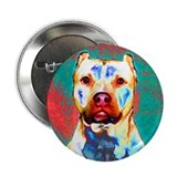 Pit Bull Terrier Pop Art Violet Button