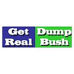 Get Real Dump Bush Bumper Sticker