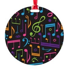 Colored Music Notes Choir Band Ornament