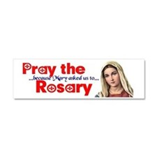 pray_bumper_fr_white Car Magnet 10 x 3