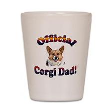 Official Corgi Dad Tri OC Shot Glass