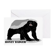 honeybadger_design2 Greeting Card