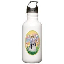 Angel Blessing a Shih  Water Bottle