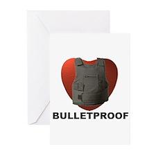 'Bulletproof Heart' Greeting Cards (Pk of 10)