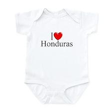 """""""I Love Honduras"""" Infant Bodysuit"""