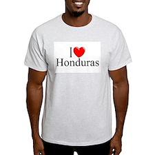 """""""I Love Honduras"""" Ash Grey T-Shirt"""