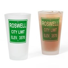 Roswell City Road Pannel Drinking Glass