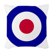 10x10-RAF_roundel Woven Throw Pillow