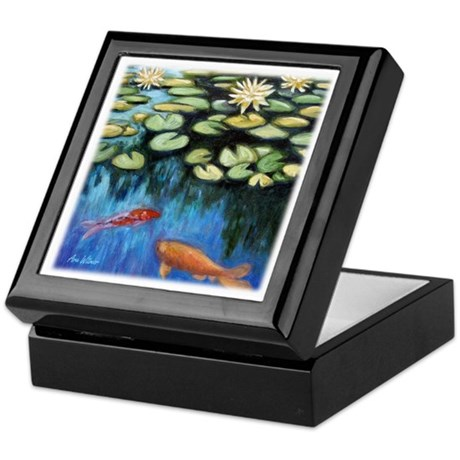 Koi Pond Keepsake Box