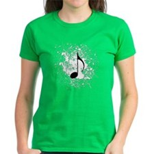 music black note splatter cop Tee