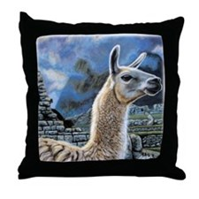 Andean Llama Throw Pillow