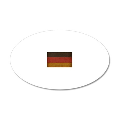 VintageGermany6 20x12 Oval Wall Decal