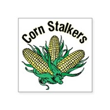 "CornStalkerTee Square Sticker 3"" x 3"""