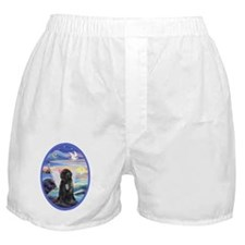 Rocks and Sea - Portuguese Water Dog Boxer Shorts