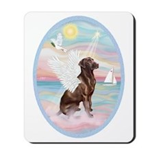 Heavenly Sea-Chocolate Labrador Mousepad