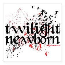 "Twilight Eclipse Newborn Square Car Magnet 3"" x 3"""