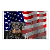 Rotties were there! Rectangle Decal