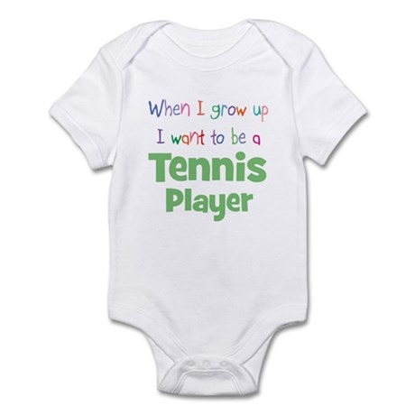 When I Grow Up Tennis Infant Bodysuit
