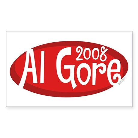 Retro Al Gore 2008 Rectangle Sticker