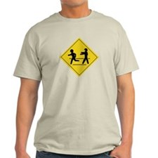 Zombie Crossing Ash Grey T-Shirt