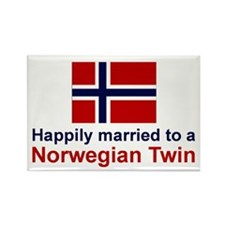 Norwegian Twins (Married To) Rectangle Magnet
