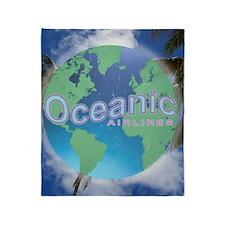 Oceanic Airlines Mini Poster Throw Blanket