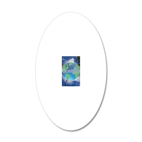Oceanic Airlines Mini Poster 20x12 Oval Wall Decal