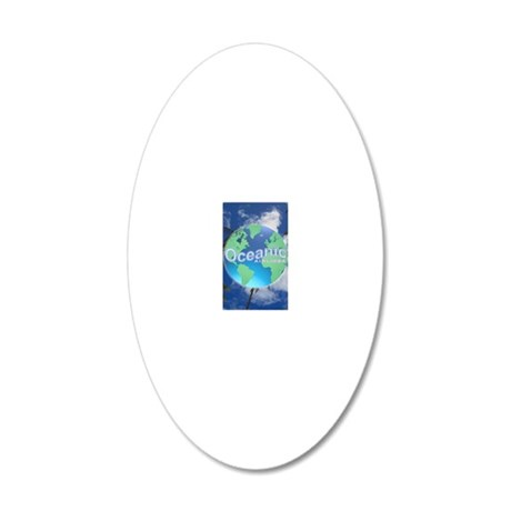 Oceanic Airlines Large Poste 20x12 Oval Wall Decal