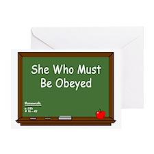 Teacher Chalkboard Greeting Card
