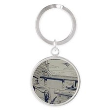Tom Swift Junior lab Round Keychain