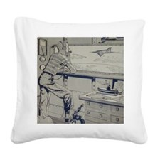 Tom Swift Junior lab Square Canvas Pillow