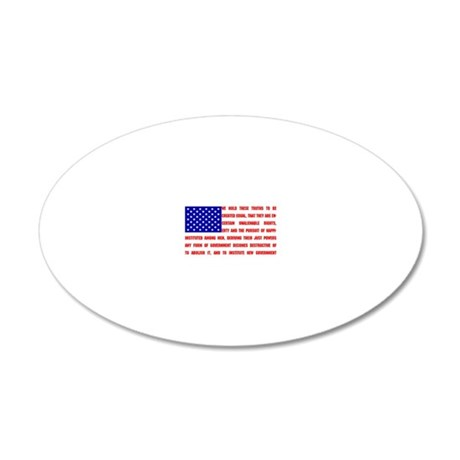 Declaration Flag 20x12 Oval Wall Decal