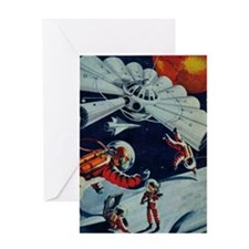 Outpost in Space Tom Swift Greeting Card