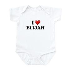 I LOVE ELIJAH T-SHIRT ELIJAH  Infant Bodysuit