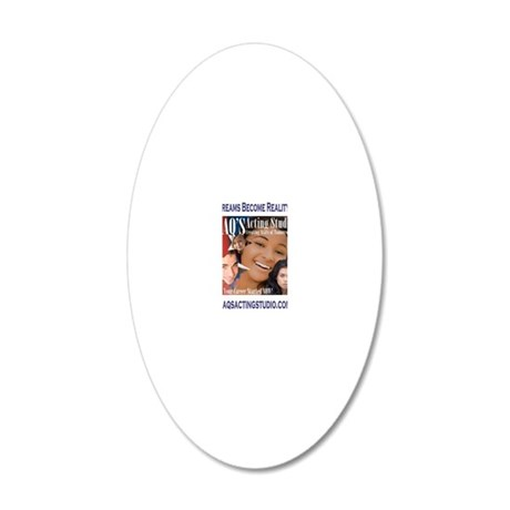 jaqs acting studio front 20x12 Oval Wall Decal