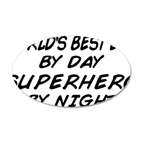 superhero by night copy 35x21 Oval Wall Decal