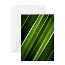 lime green lines abstract geometric  Greeting Card