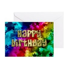 Birthday card with stars Greeting Cards