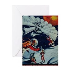 Outpost in Space Tom Swift Junior Greeting Card