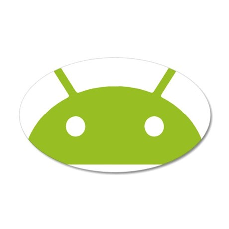 Google Android Head 35x21 Oval Wall Decal