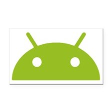 Google Android Head Rectangle Car Magnet