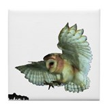 Tile Coaster -- BARN OWL
