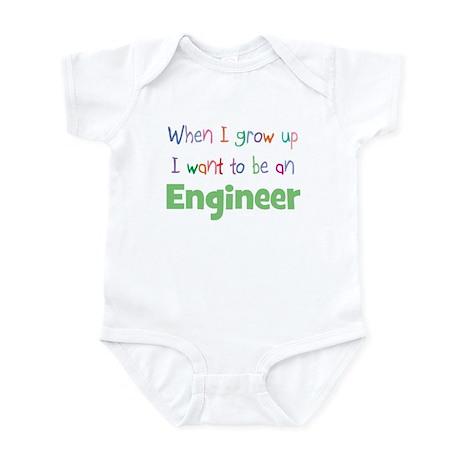 When I Grow Up Engineer Infant Bodysuit
