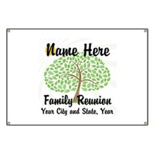 Customizable Family Reunion Tree Banner