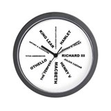 Shakespeare's Plays Wall Clock