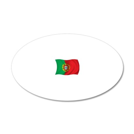 wavyPortugal2 20x12 Oval Wall Decal