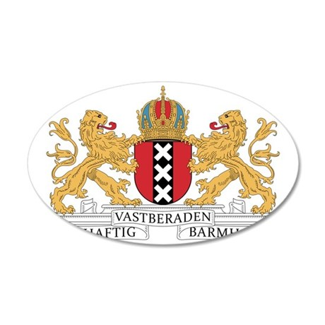 amsterdam_city_coa1 35x21 Oval Wall Decal
